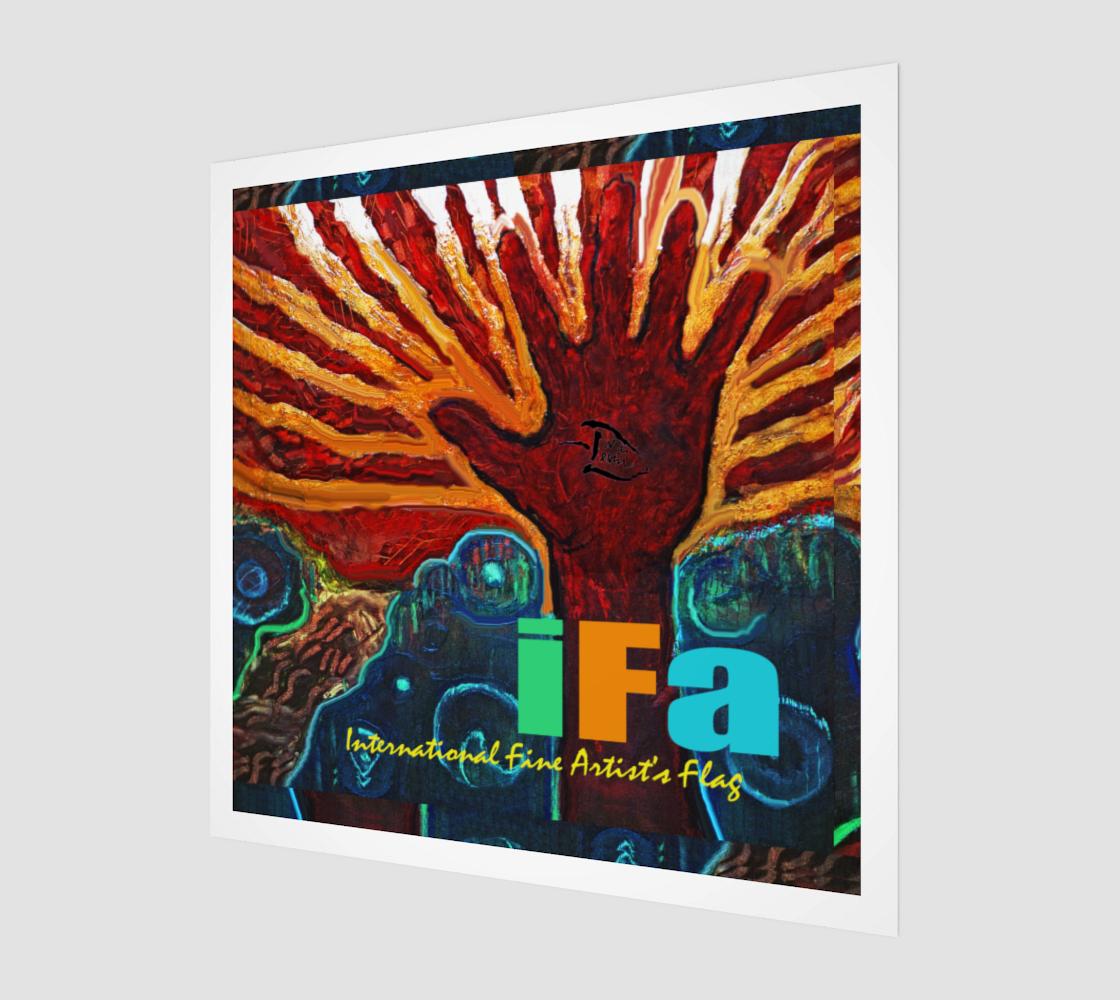 OFFICIAL INT'L FINE ARTIST'S FLAG WALL ART preview