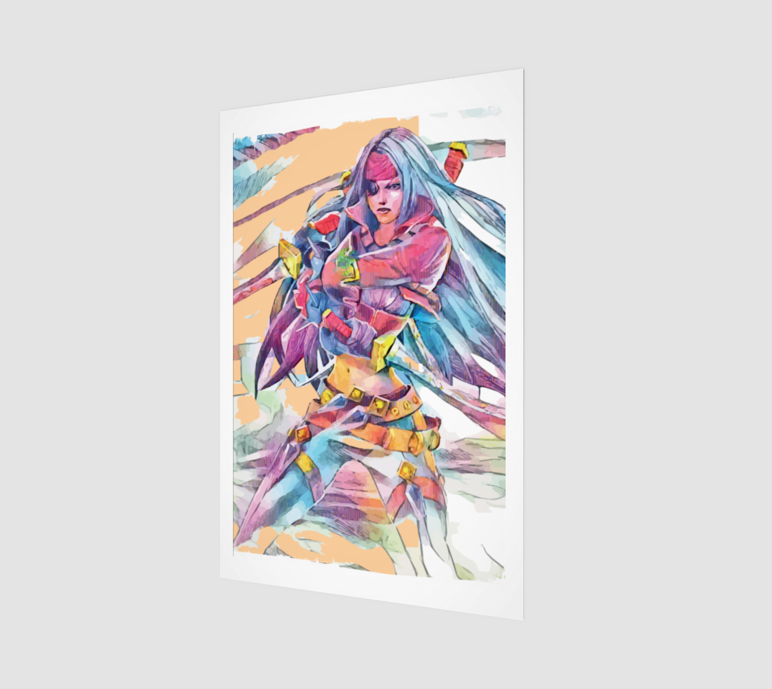 Bilgewater Katarina Abstract Fan Art preview