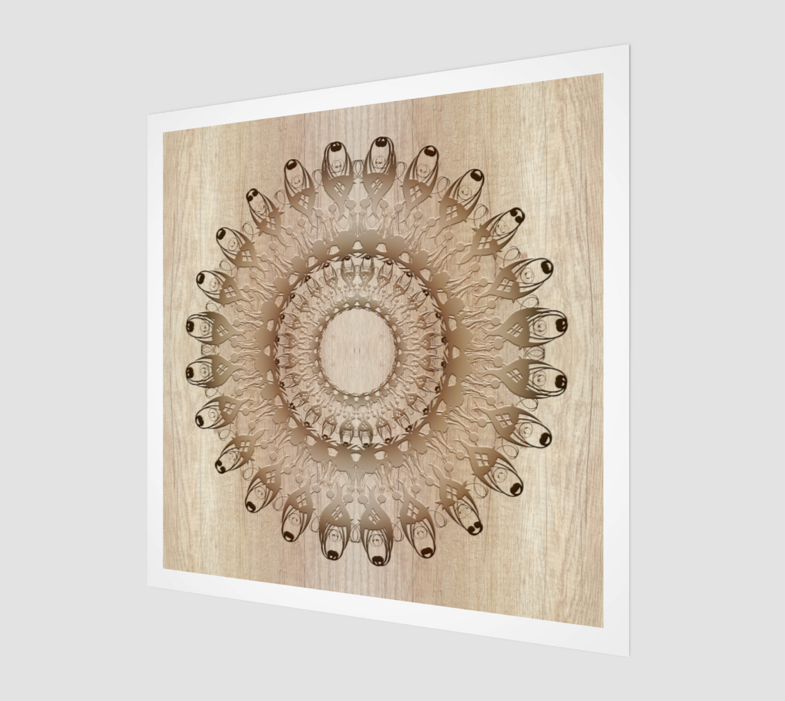 Ethnic Wooden Mandala preview