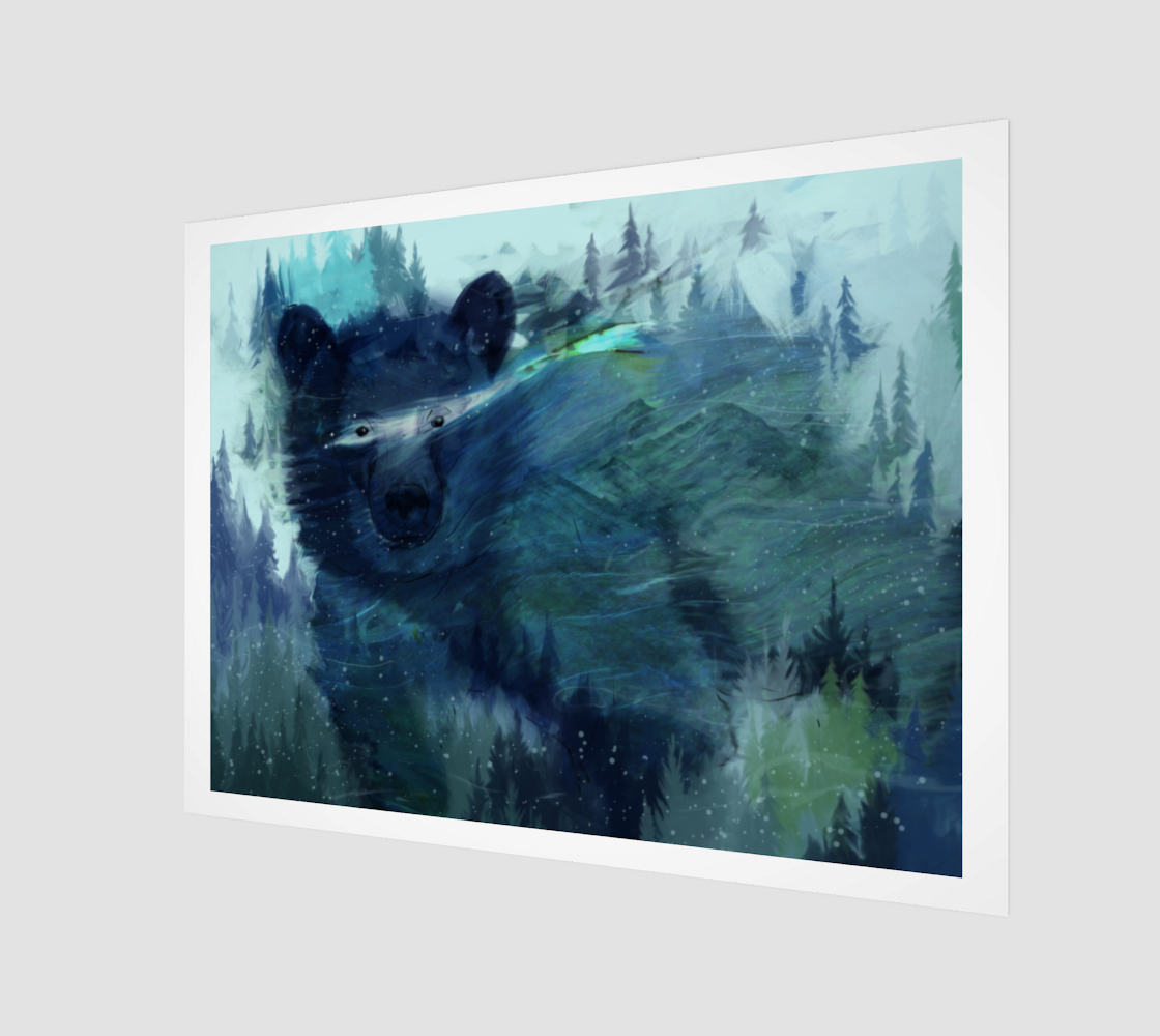 Wandering Presence Bear Art Print preview