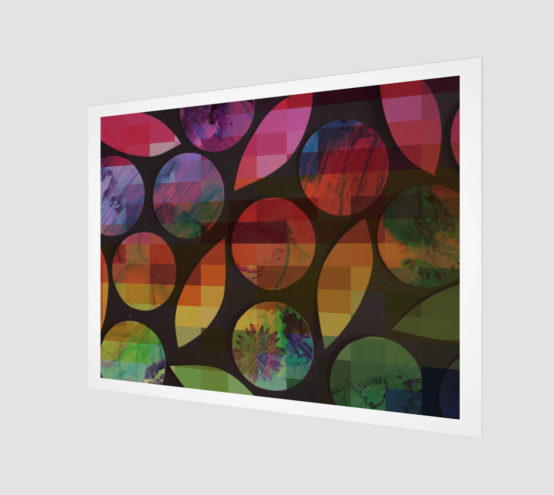 Rainbow Circles & Leaves preview
