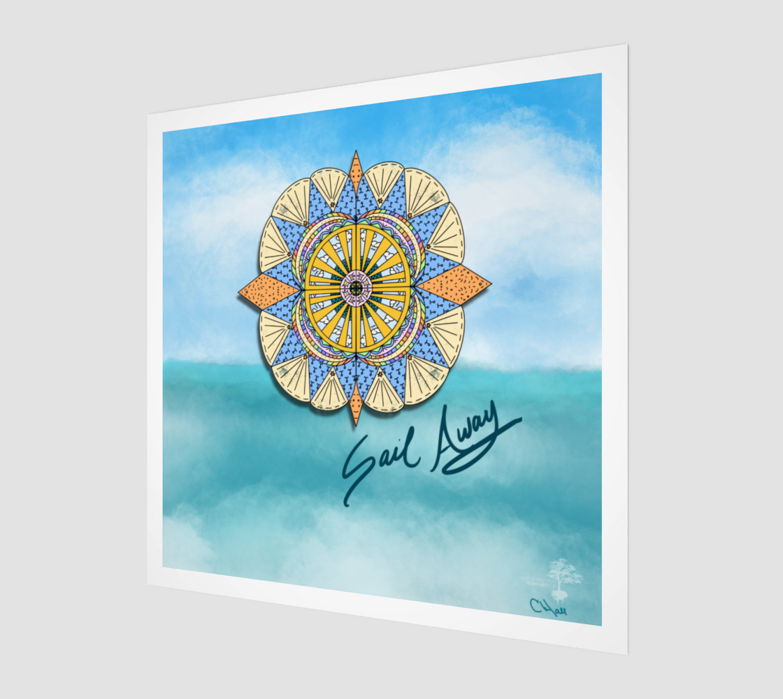 """Sail Away"" Beach Mandala preview"