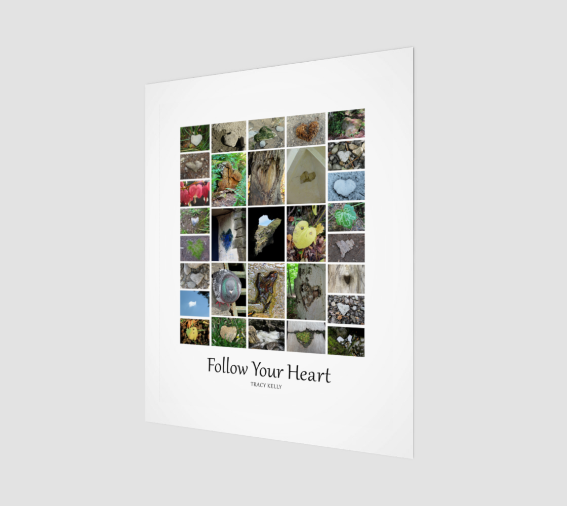 Follow Your Heart Wood Print preview