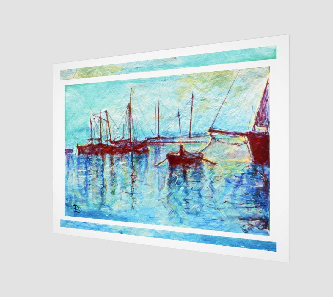 Crimson Harbor / Official Devin Wall-Art Print preview