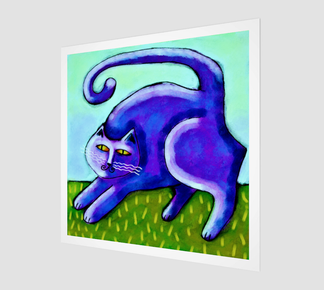 Abstract Purple Cat Digital Print on Canvas preview