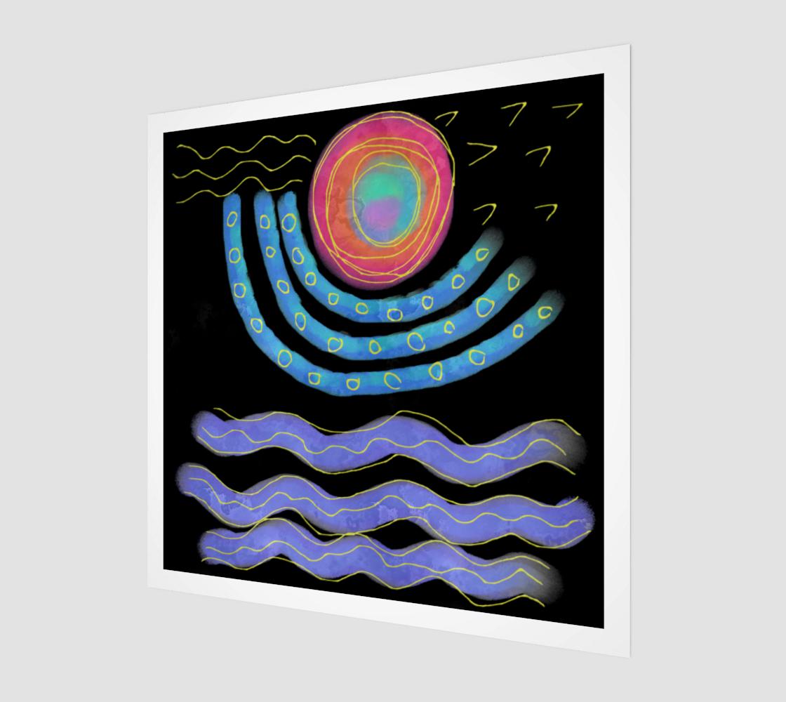 Aperçu de Colorful Abstract Sun Digital Print