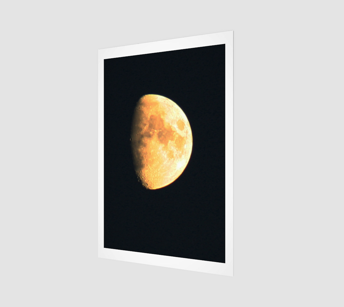 Big Old Moon Wood Print preview