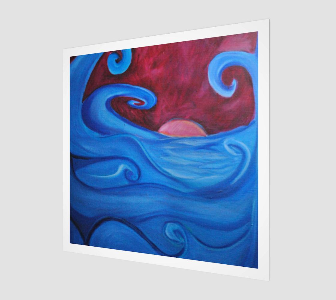 Aperçu de Blown Ocean Wavers Art Print