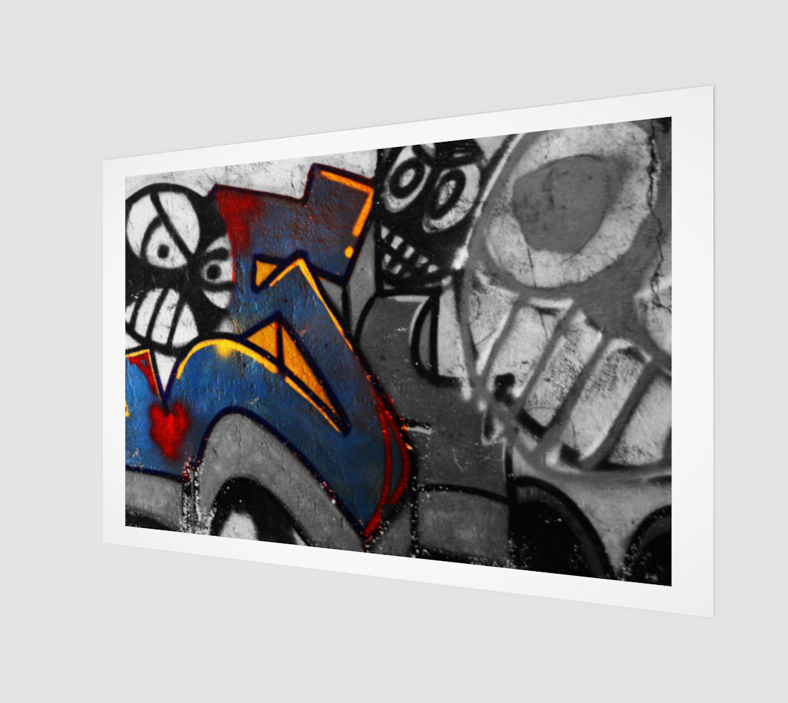 Graffiti 1 Wood Print preview