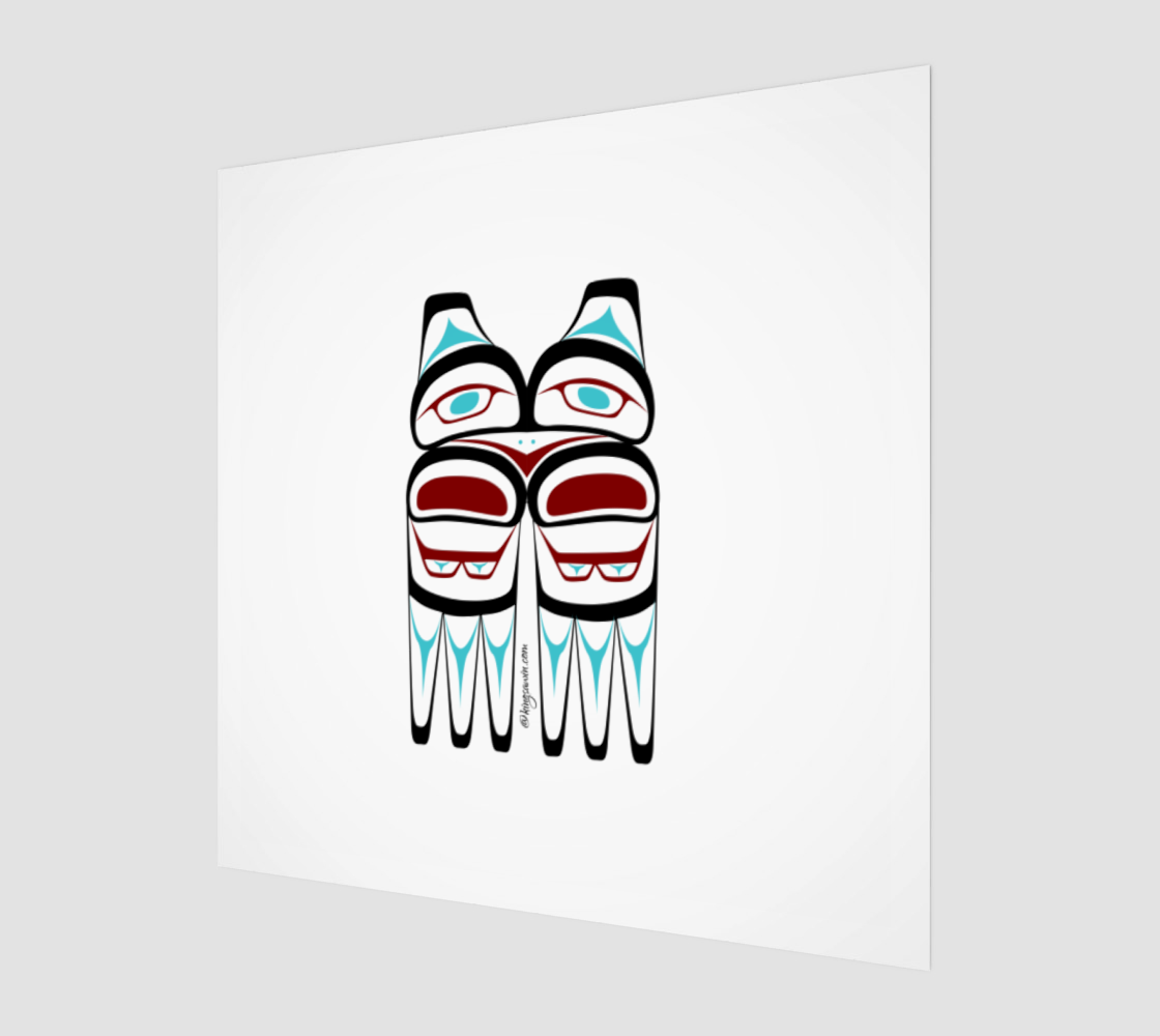 Eagle Print Pacific Northwest Native American Art preview