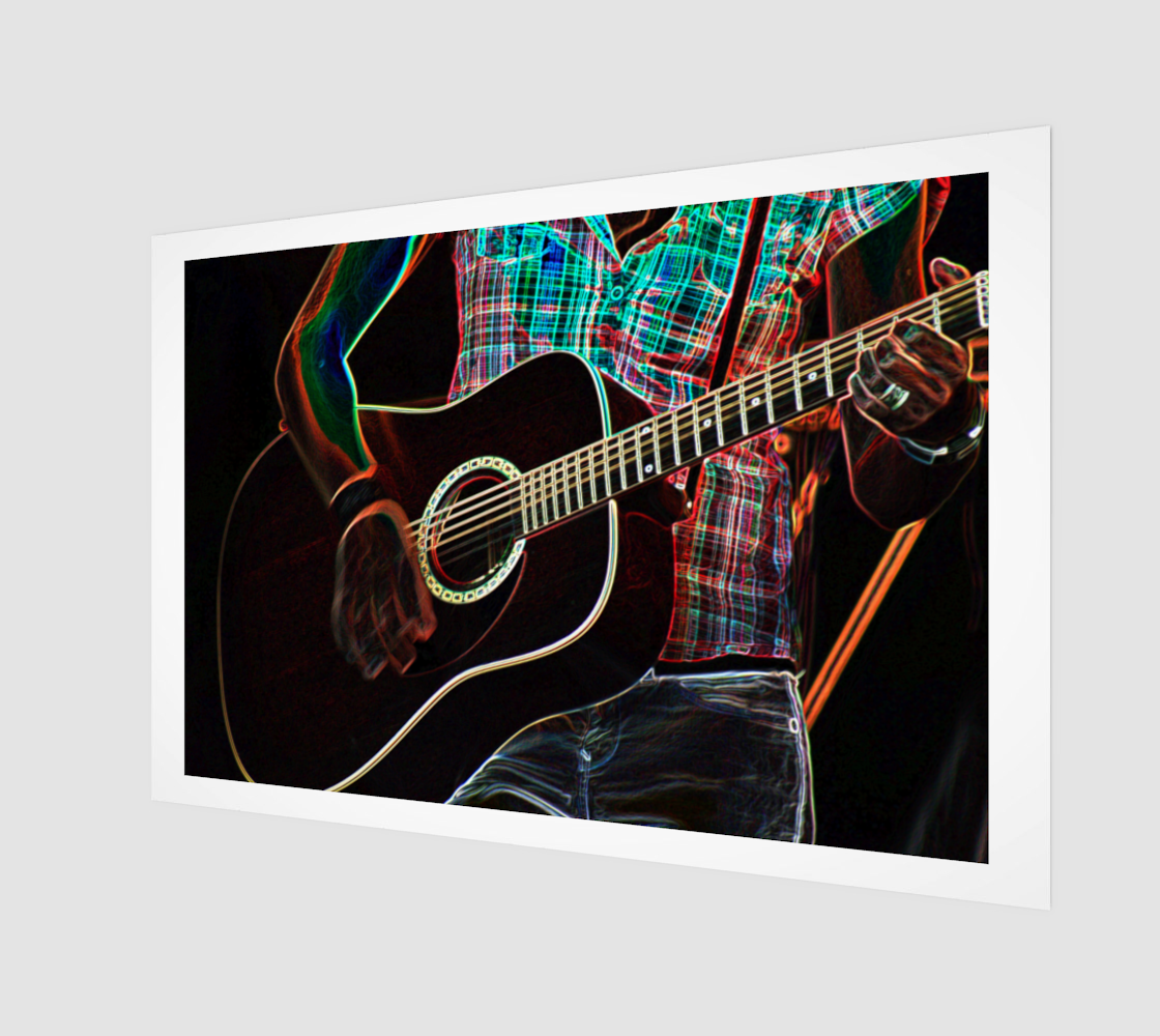 Guitar 1 Art Print preview #1