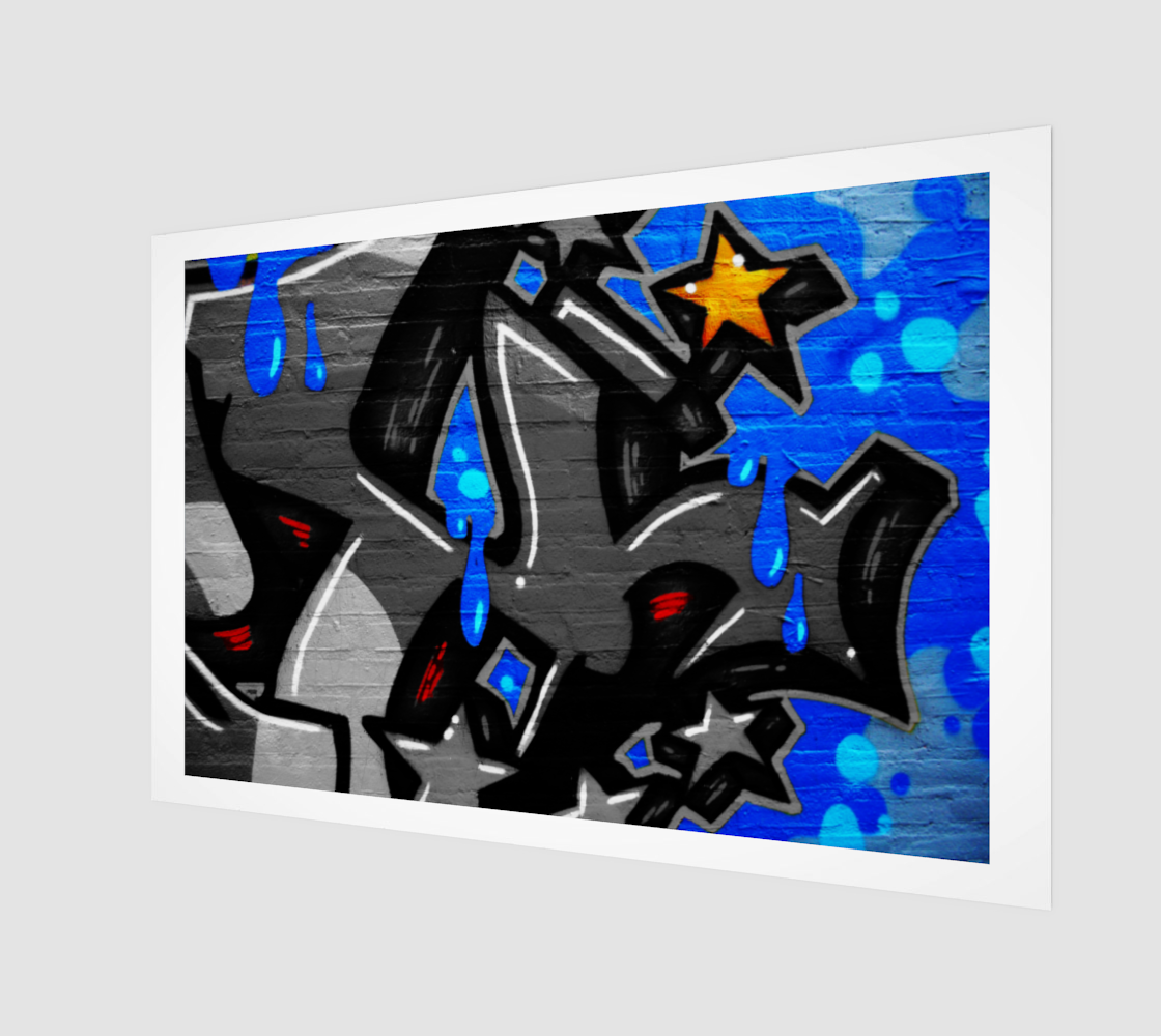 Graffiti 3 Wood Print preview