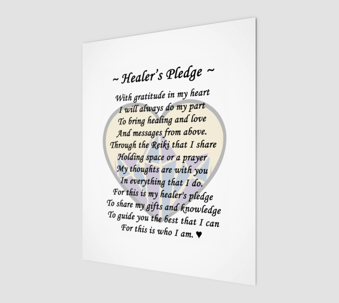 Reiki Healers Pledge 8x10 Wall Art preview