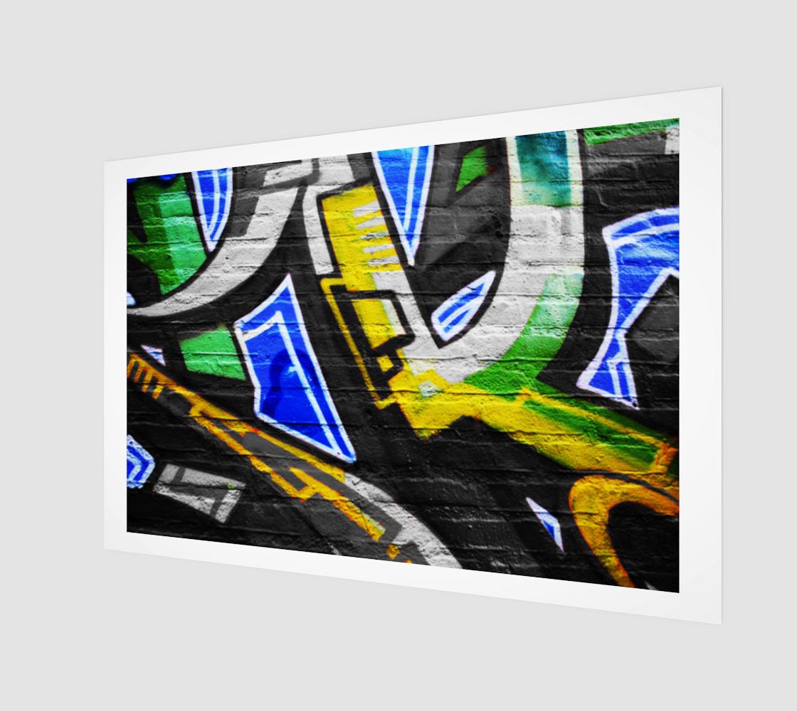 Graffiti 6 Wood Print preview
