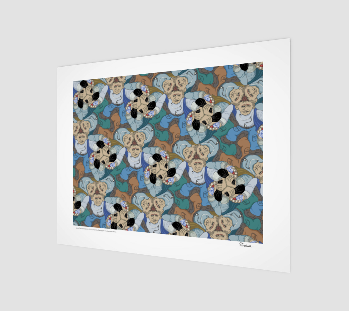 Jewel Thief, a tessellation by Francine Champagne preview