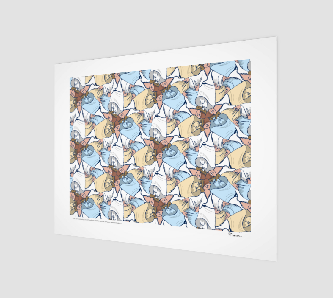 Rumi, the First Whirling Dervish, a tessellation by Francine Champagne preview