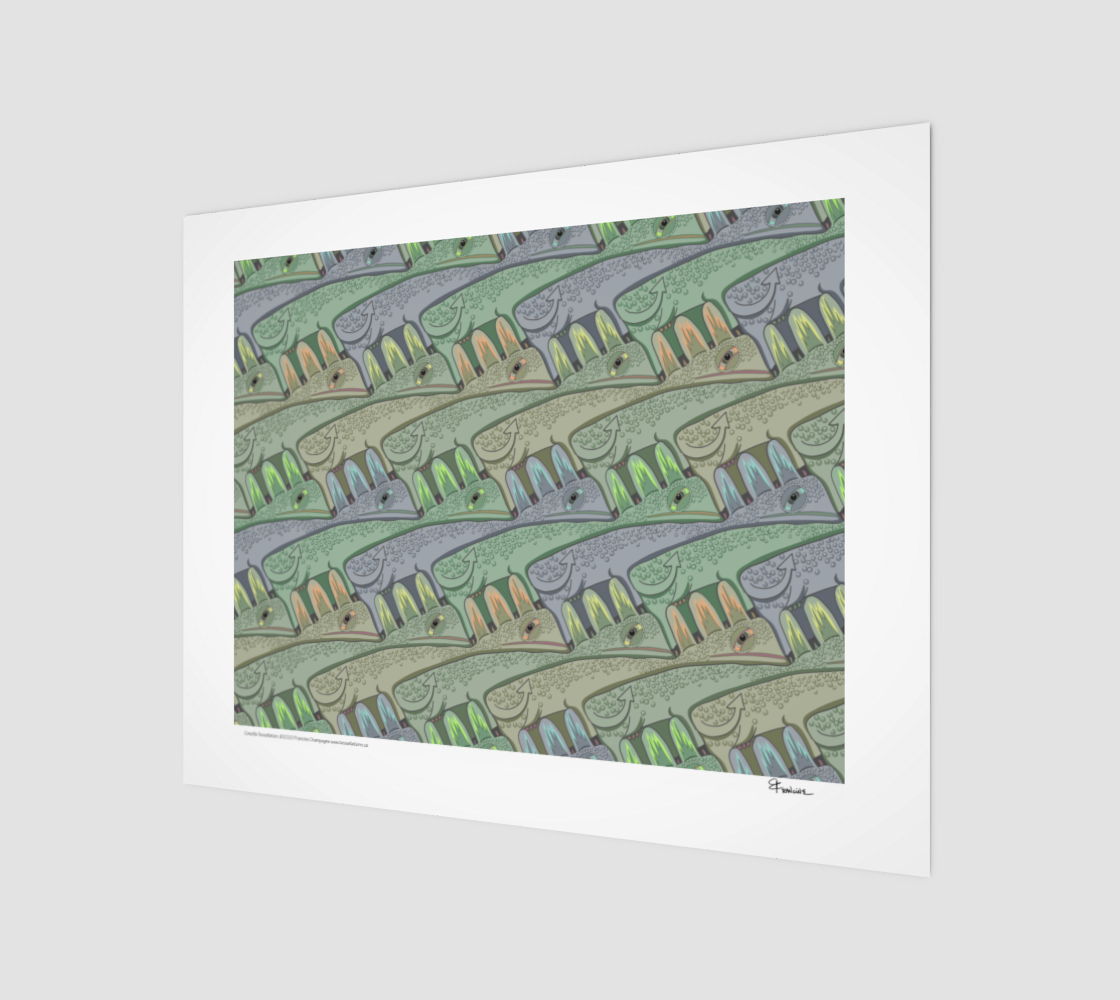 Cowzilla, a tessellation by Francine Champagne preview