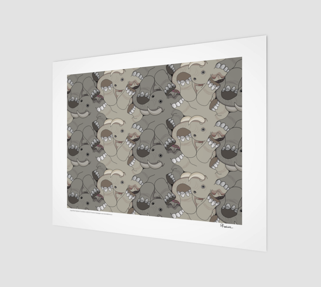Laid Back Elephant, a tessellation by Francine Champagne preview