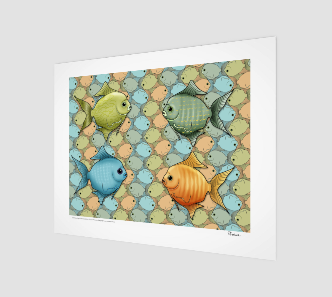 Brenikou Angel Fish, a tessellation by Francine Champagne preview