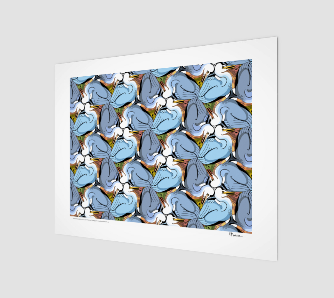 Great Blue Heron, a tessellation by Francine Champagne preview