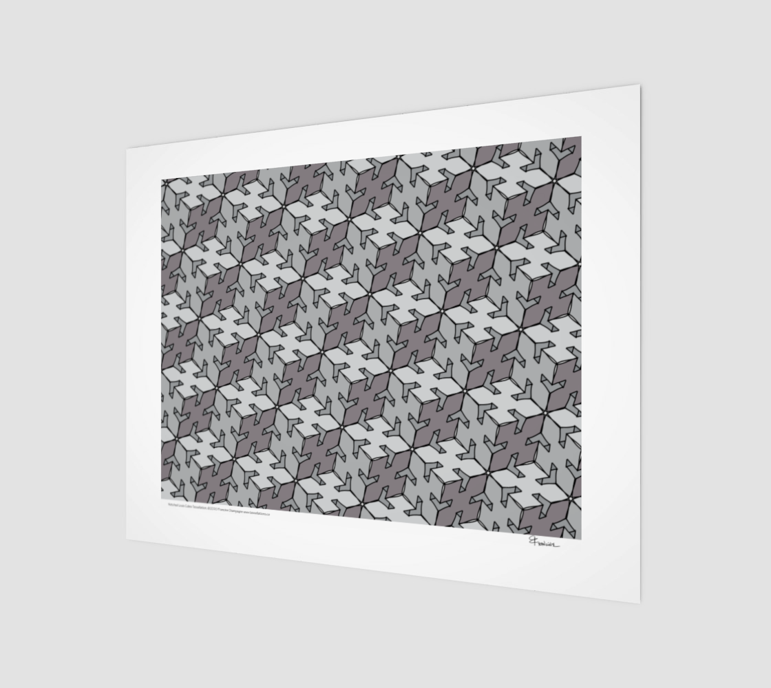 Notched Louis Cubes, a tessellation by Francine Champagne preview