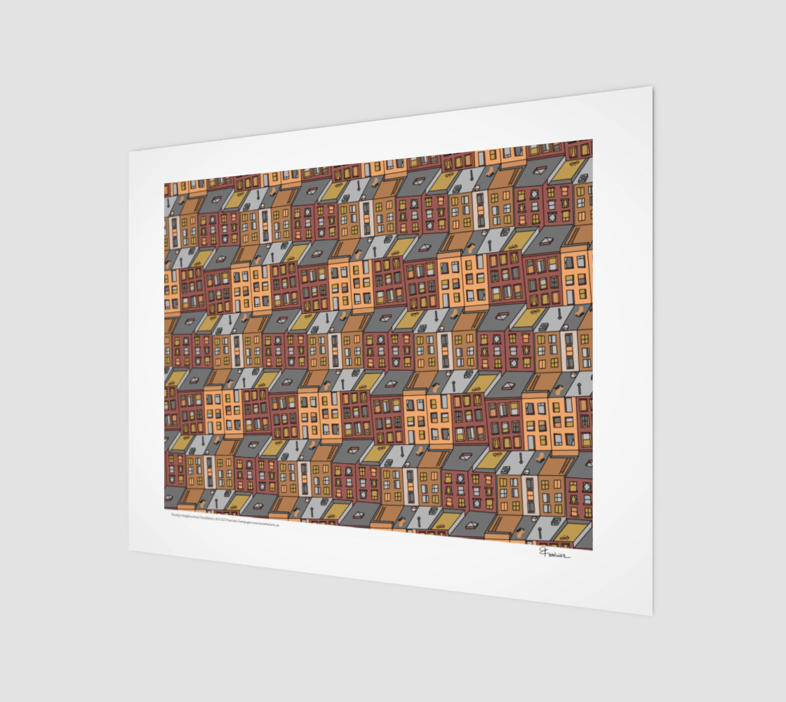 Brooklyn Neighborhood,  a tessellation by Francine Champagne preview