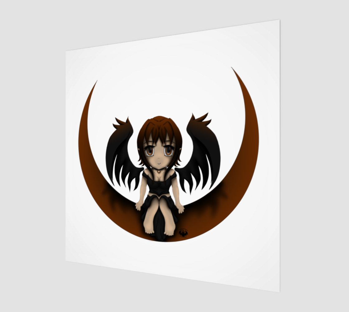 Gothic Angel On A Crescent Moon preview