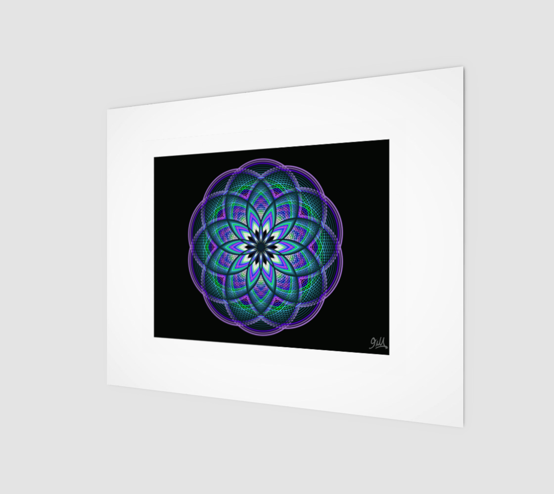Galactic Flower 8x10 Art Print  preview