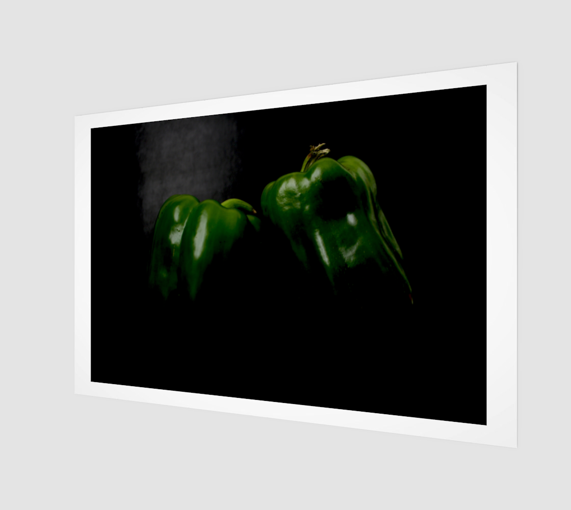 Two Green Peppers Art Print preview