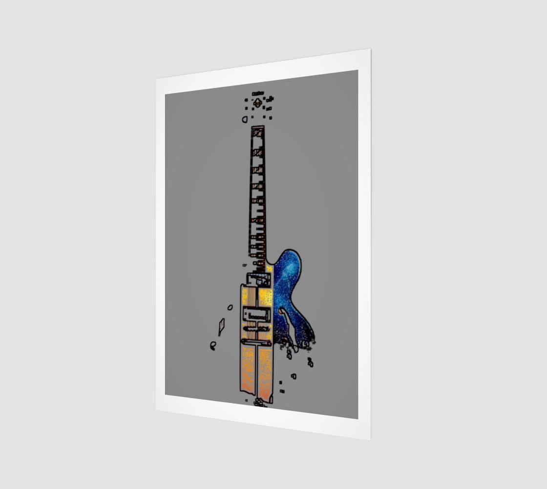 Guitar 4 Wood Print preview
