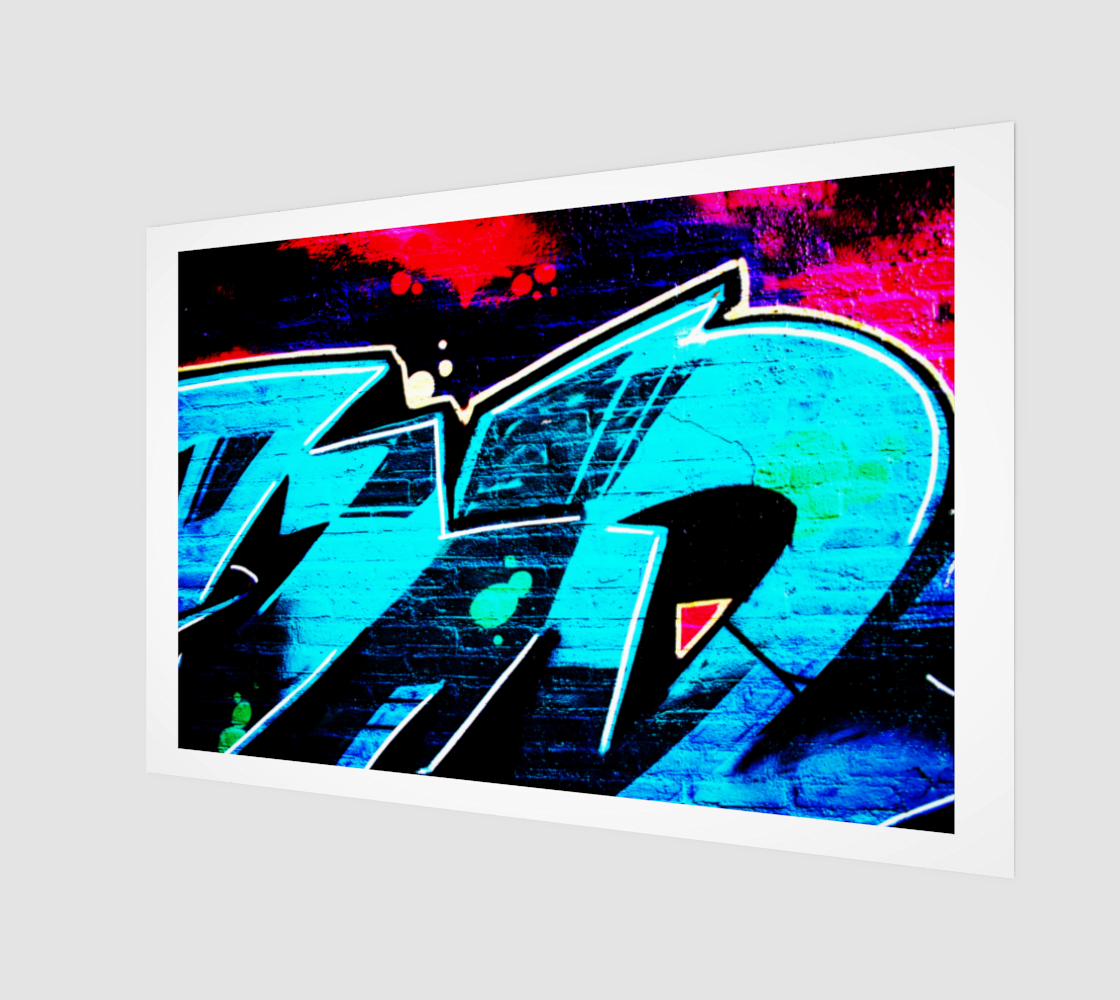 Graffiti 14 Wood Print preview
