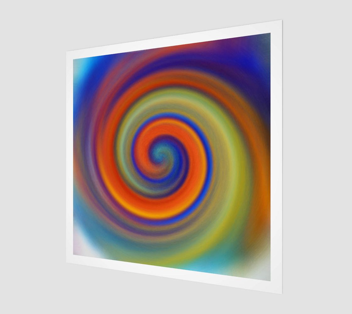Spiral in orange preview