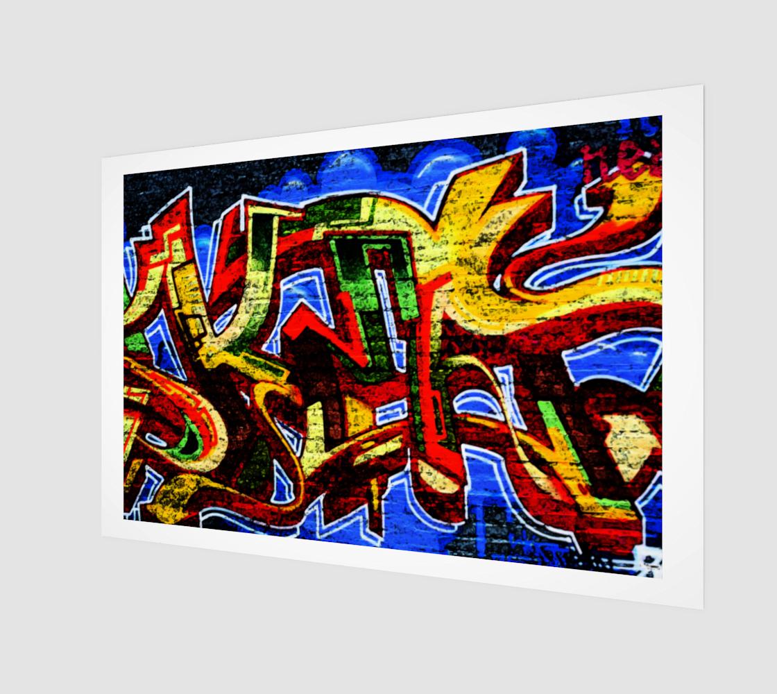 Graffiti 17 Wood Print preview