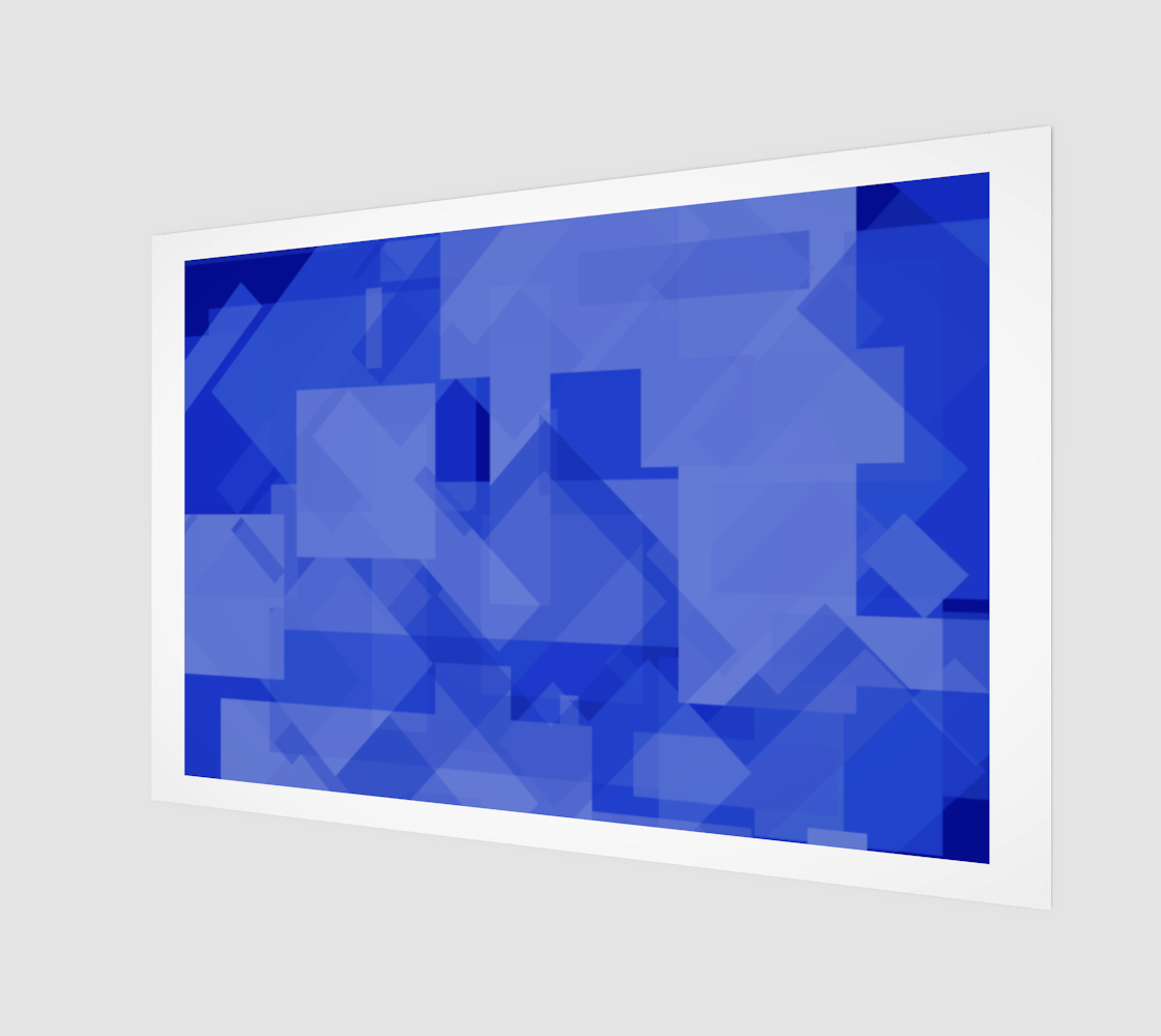 Blue is Better Art Print preview