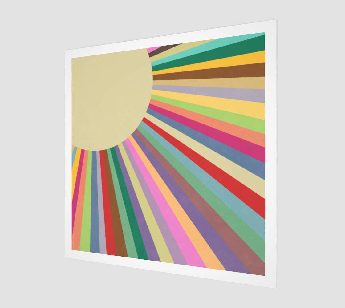 Retro Rainbow Sun Rays preview