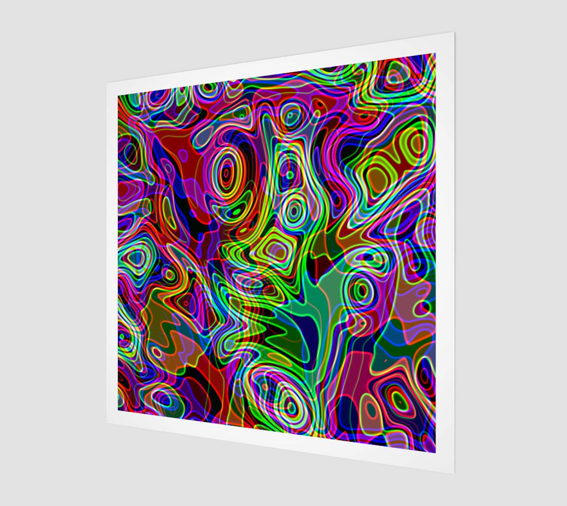 Abstract Retro Neon Liquid Lava Art preview