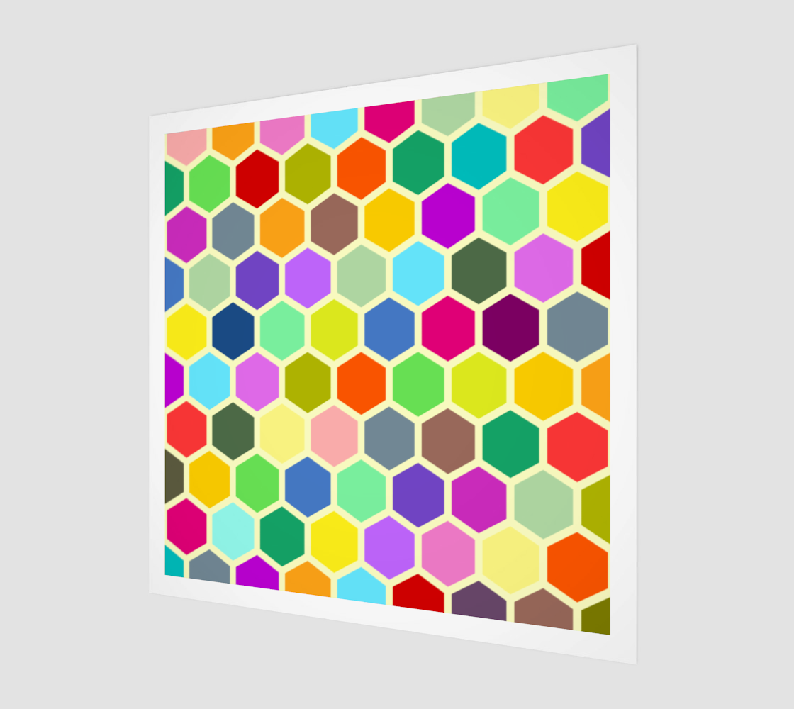 Colorful Retro Honeycomb preview
