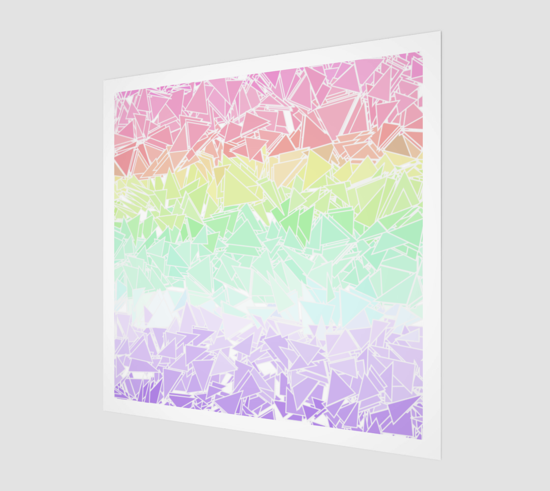 Groovy Boho Triangle Rainbow, 50% of profits donated to the Trevor Project! preview