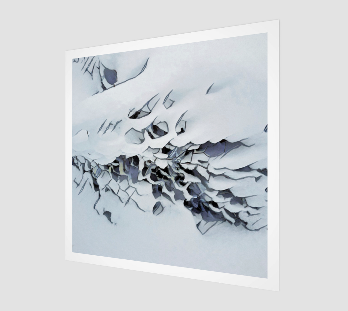Frost Fence Art Print preview