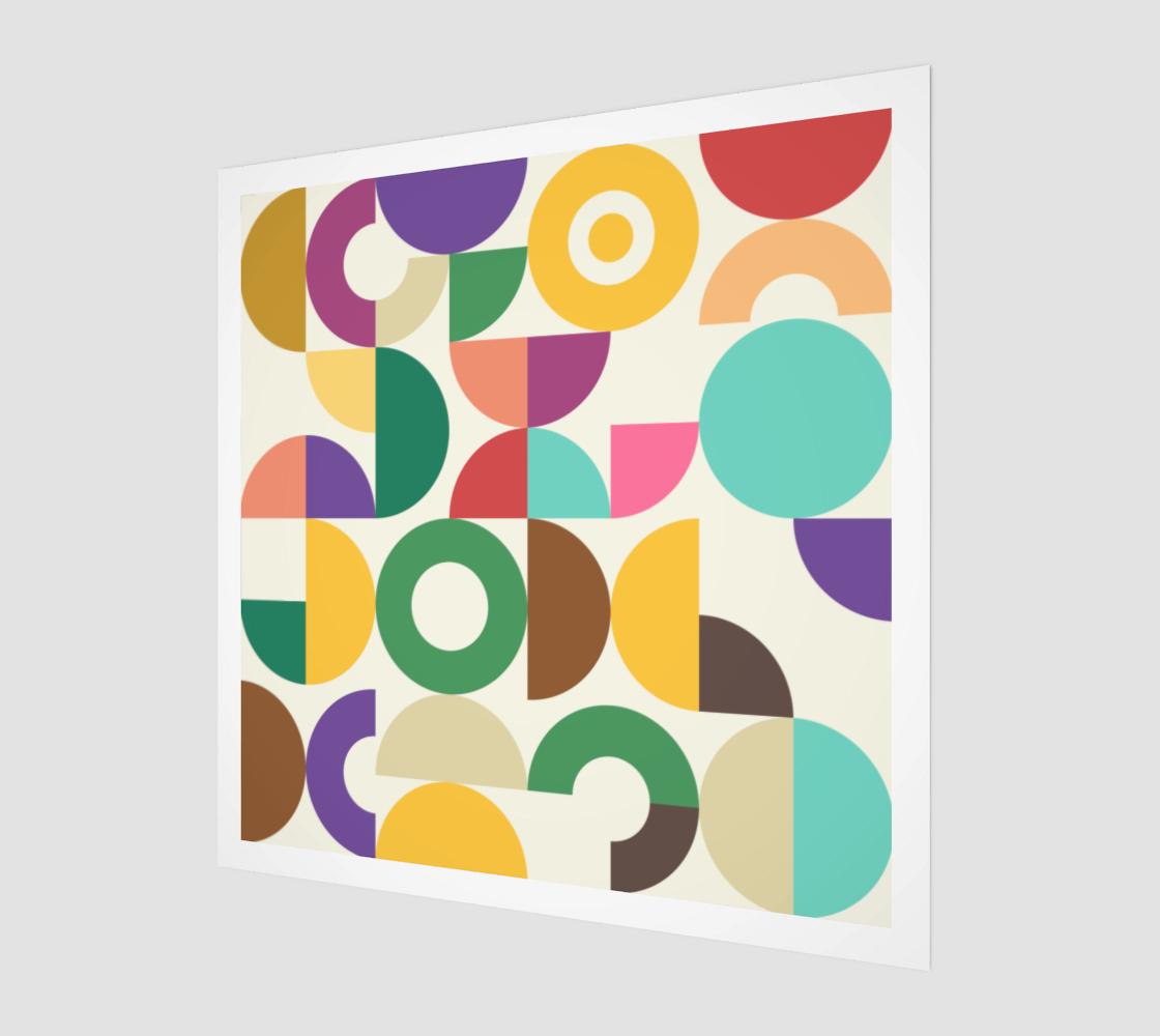 Retro Bauhaus Semi Circle Pattern preview