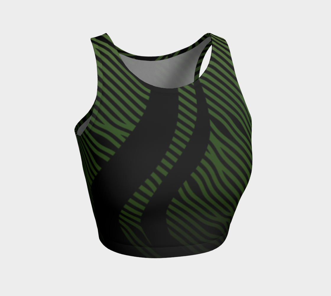 Geometrix - Waves Green Ombre Athletic Crop Top preview