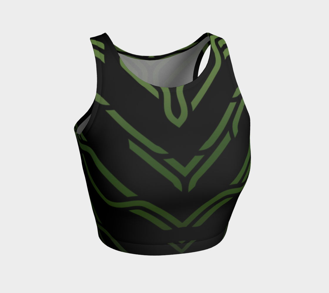 Geometrix - Cable Green Ombre Athletic Crop Top 2 preview