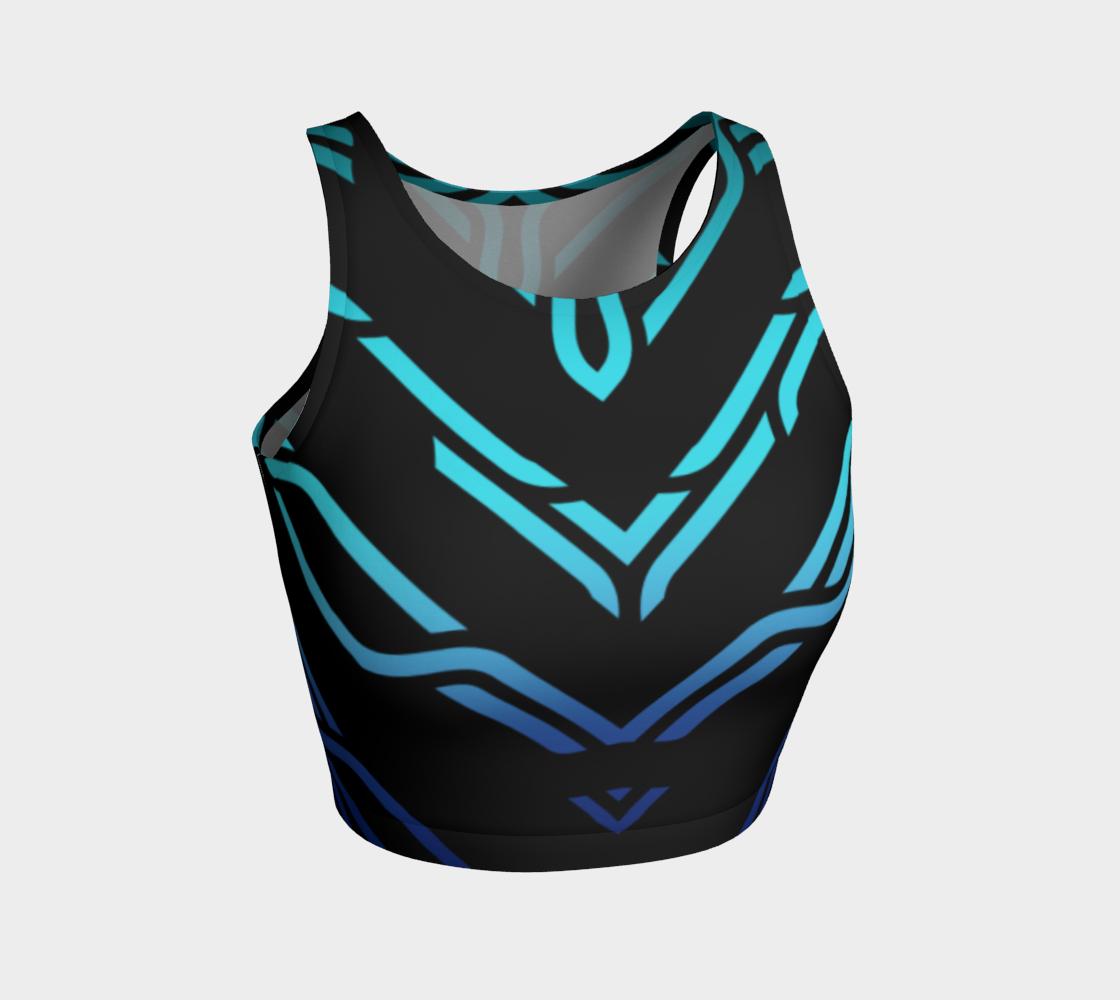 Geometrix - Cable Blue Ombre Athletic Crop Top 2 preview