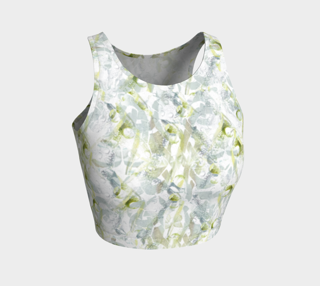 Aperçu de Spring Equinox Athletic Crop Top by Laura Davis Art Studio