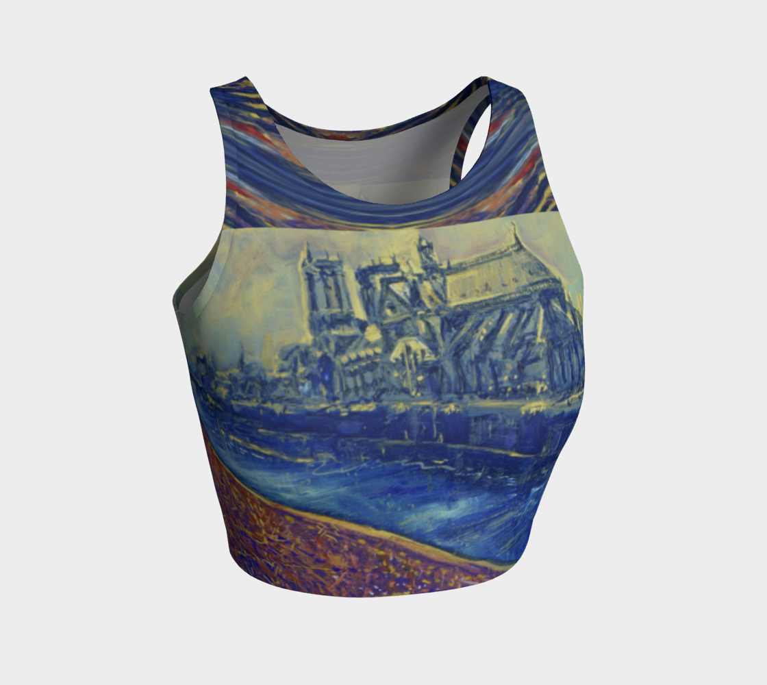 """""""Notre Dame Tribute: 4-15-19 by Lowell S.V. Devin"""" / Commemorative Crop Top preview"""