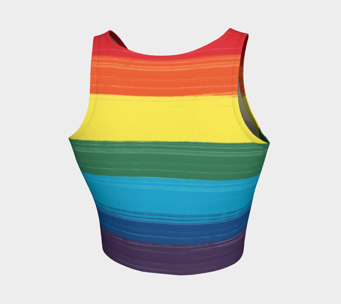 LGBTQ Painted Pride Design Crop Top Tank preview #2