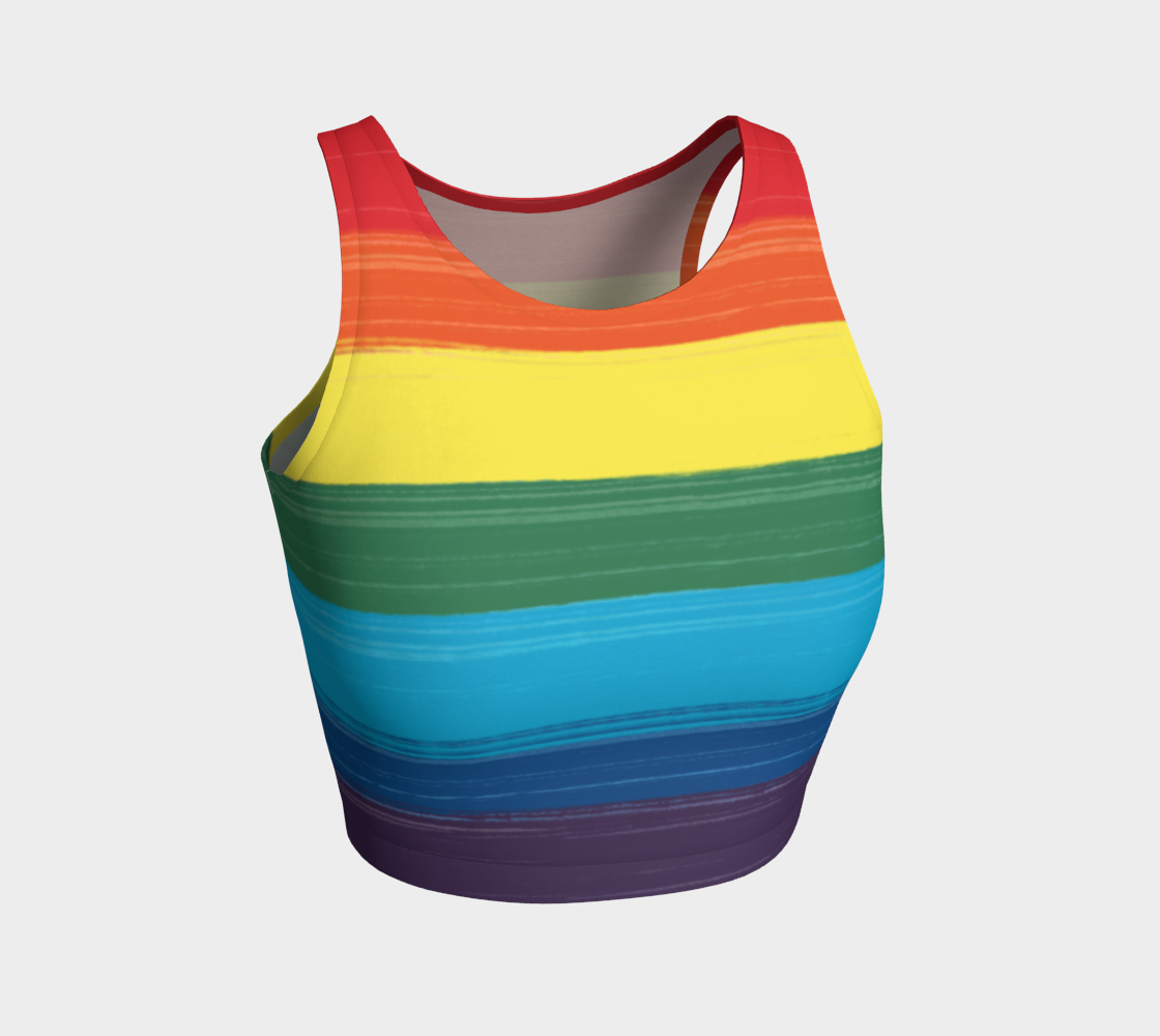 LGBTQ Painted Pride Design Crop Top Tank preview #1