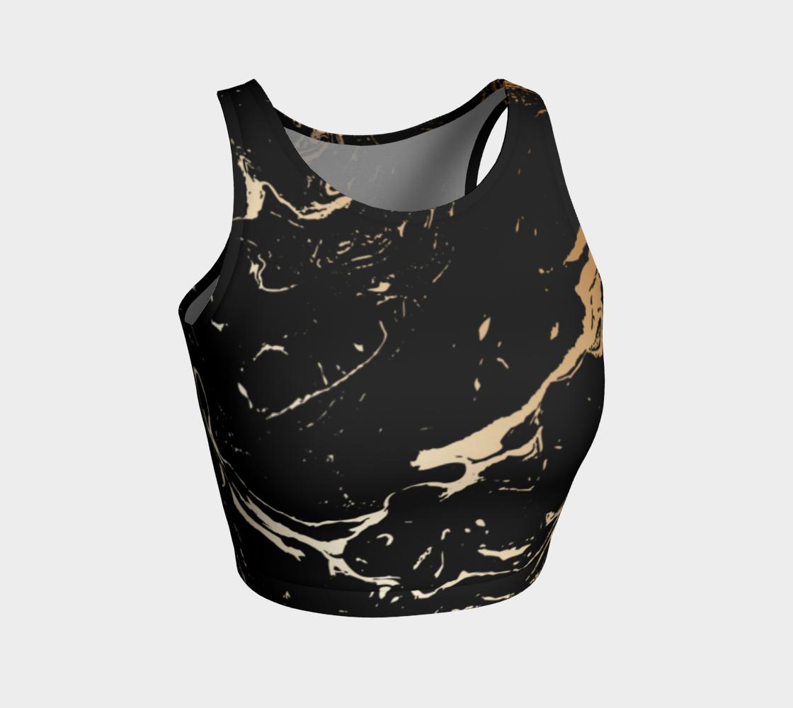 Black and Gold Paint Splattered Design aperçu