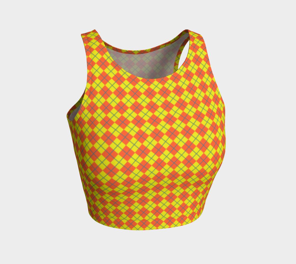 Diamond Check in Yellow Orange aperçu