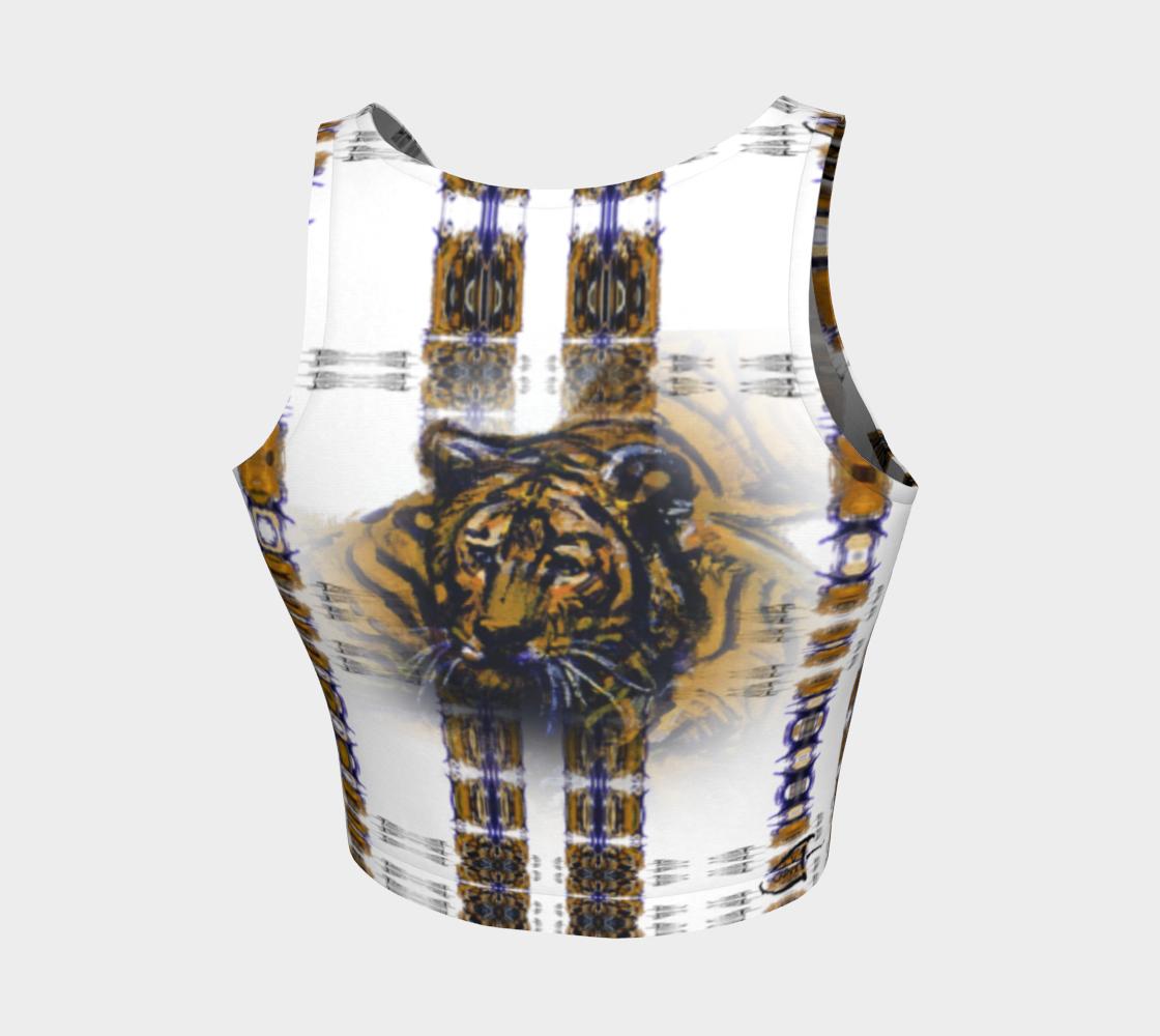 Aperçu de Smoked-Tiger-Head Crop Top #2